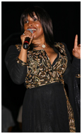 Norma Jean Wright singing on stage